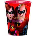 Hihetetlen család műanyag pohár