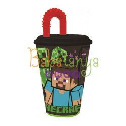Minecraft  szívószálas pohár